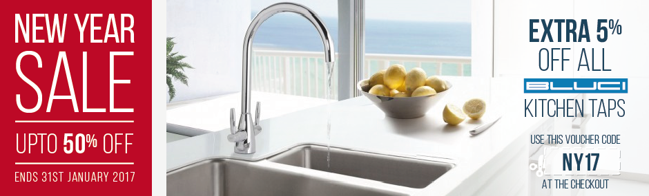 An extra 5% off Bluci Kitchen Taps