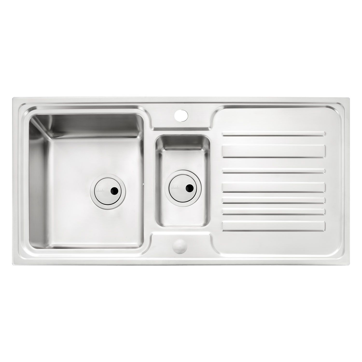Medium image of apex 1 5 bowl stainless steel kitchen sink