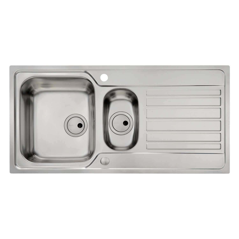 Abode connekt flush fit 15 bowl kitchen sink sinks taps connekt flush fit 15 bowl kitchen sink workwithnaturefo