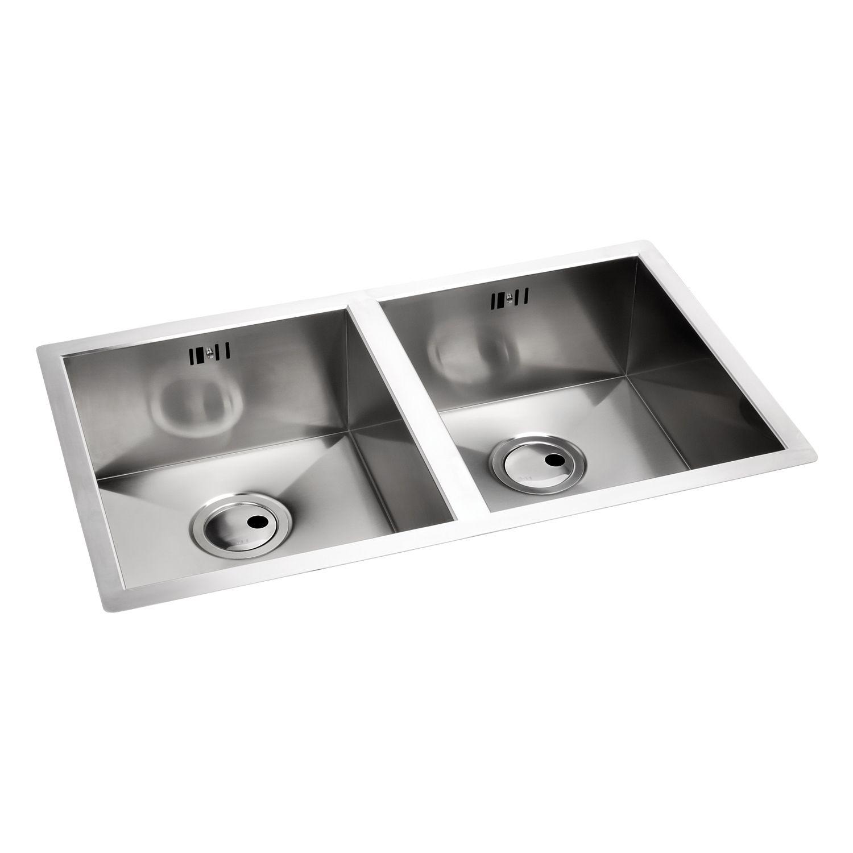 Abode AW5012 Matrix R0 2 Bowl Undermount Sink - Sinks-Taps.com