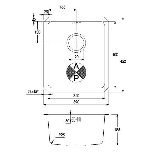 Matrix R25 1.0 Bowl Undermount Kitchen Sink