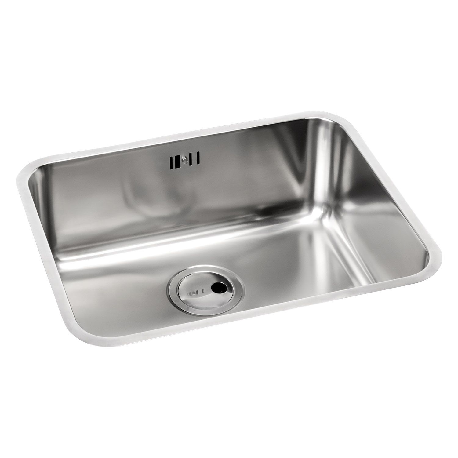 Large Kitchen Sinks Undermount : Matrix R50 Large 1.0 Bowl Undermount Sink - Sinks-Taps.com