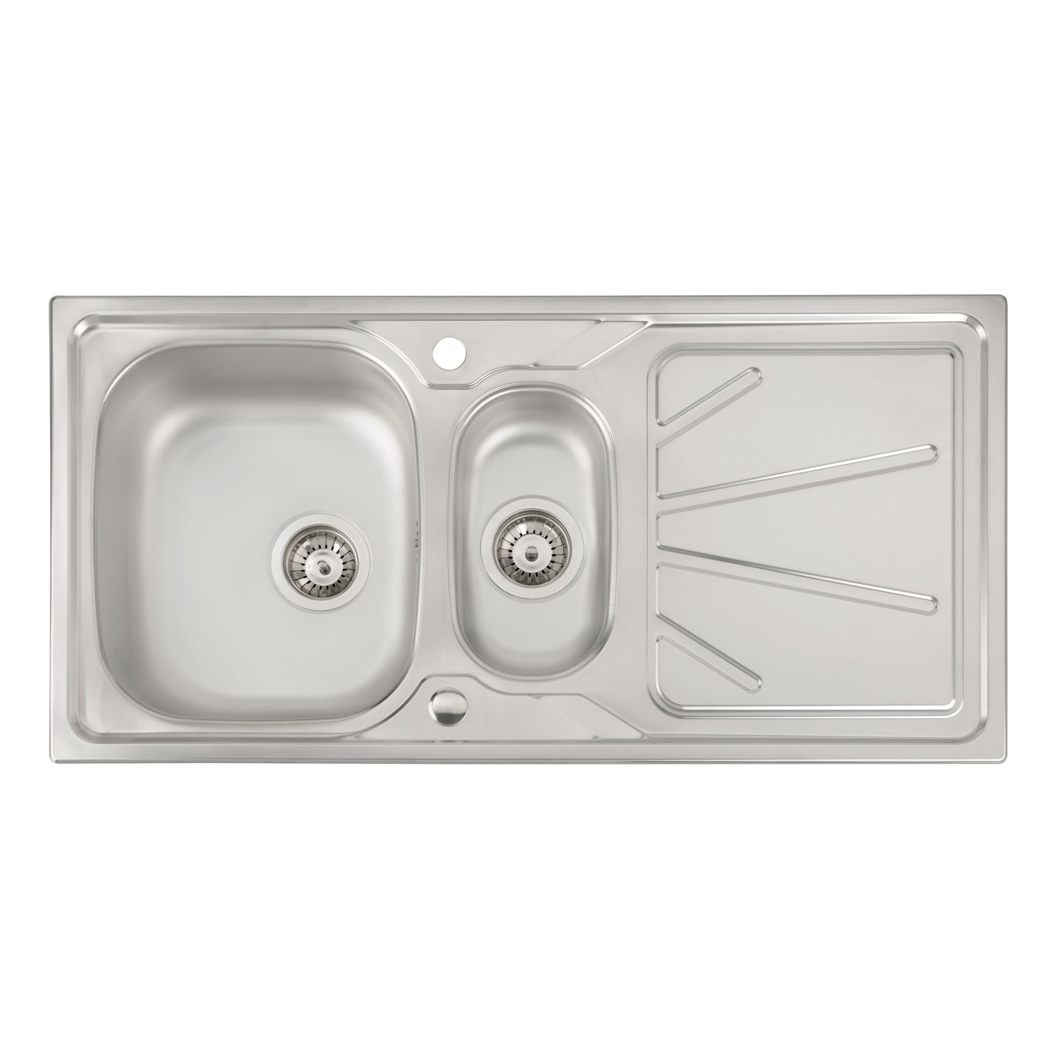 Abode Trydent 1.5 Bowl Stainless Steel Sink - Sinks-Taps.com