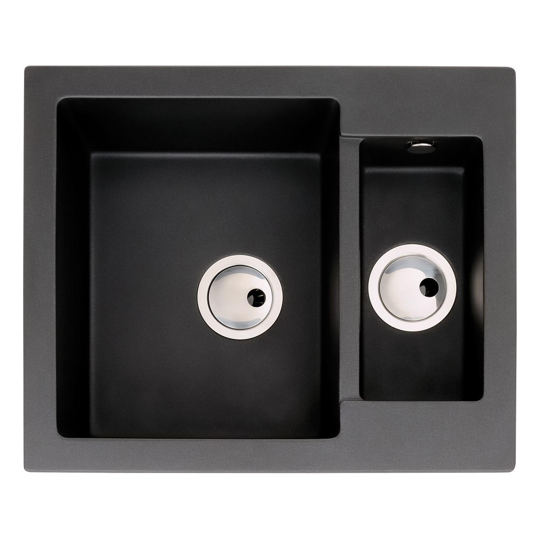 Zero 1.5 Bowl Granite Kitchen Sink Without Drainer ...