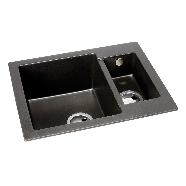 Black Kitchen Sink Without Drainer