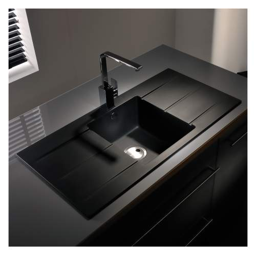 Zero 1.0 Bowl Double Drainer Granite Kitchen Sink