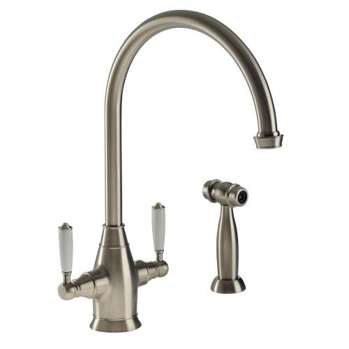 ASTBURY Dual Lever Mixer Kitchen Tap With Handspray