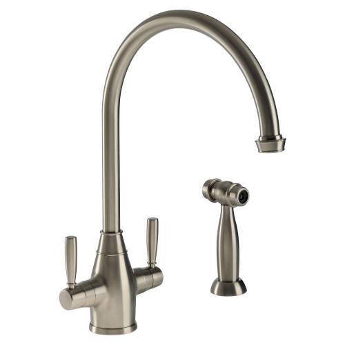 BROMPTON Dual Lever Mixer Kitchen Tap With Handspray