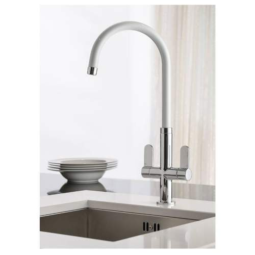 LINEAR WHITE Spout Kitchen Tap