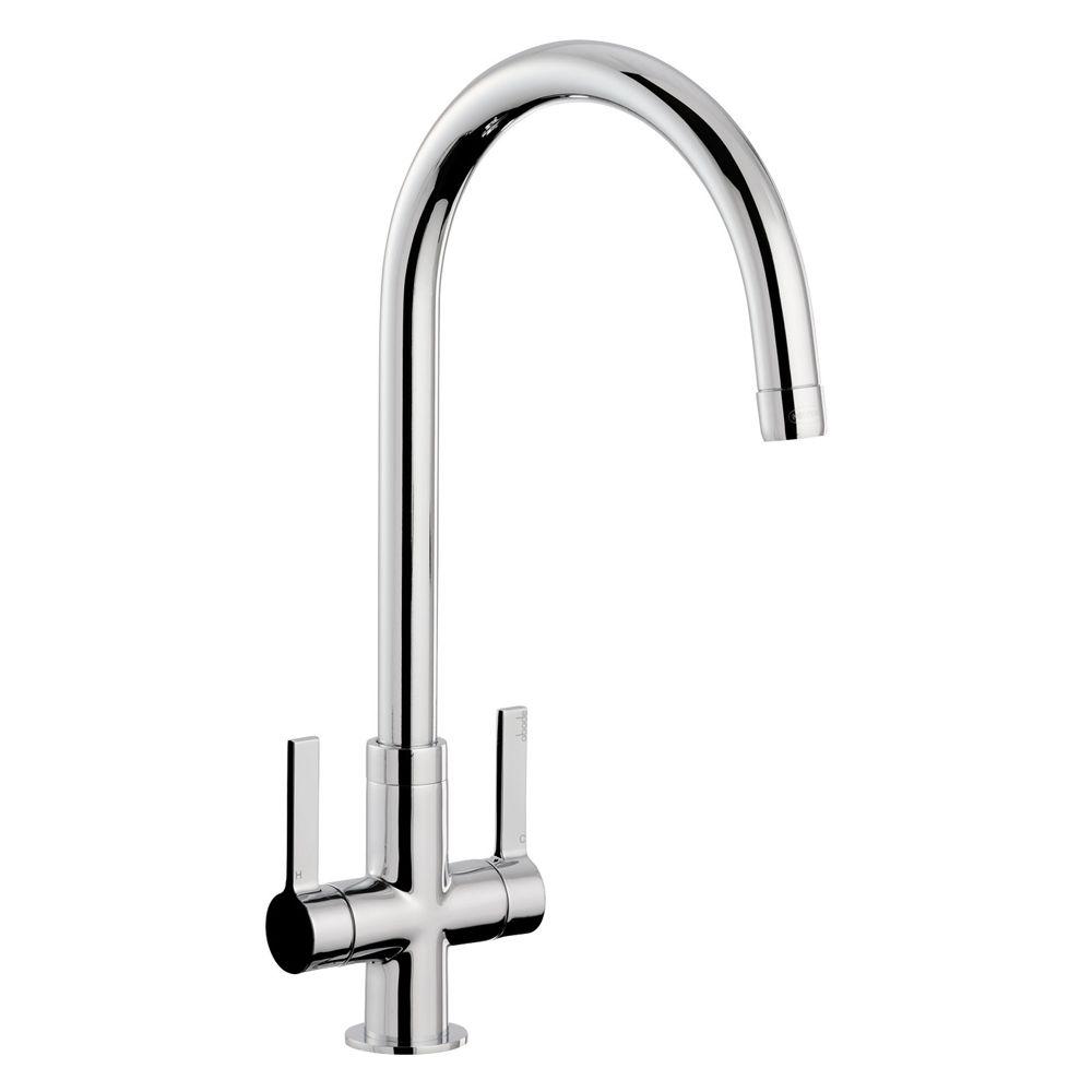 White Monobloc Kitchen Taps One Tap Hole Kitchen Taps Sinks Tapscom