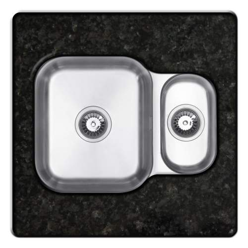 RUBUS 150UR Undermount 1.5 Bowl Kitchen Sink