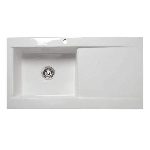 VECCHIO-DS2 1.0 Bowl Ceramic Kitchen Sink