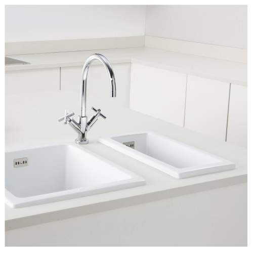 HAMPSHIRE White Kitchen Sink