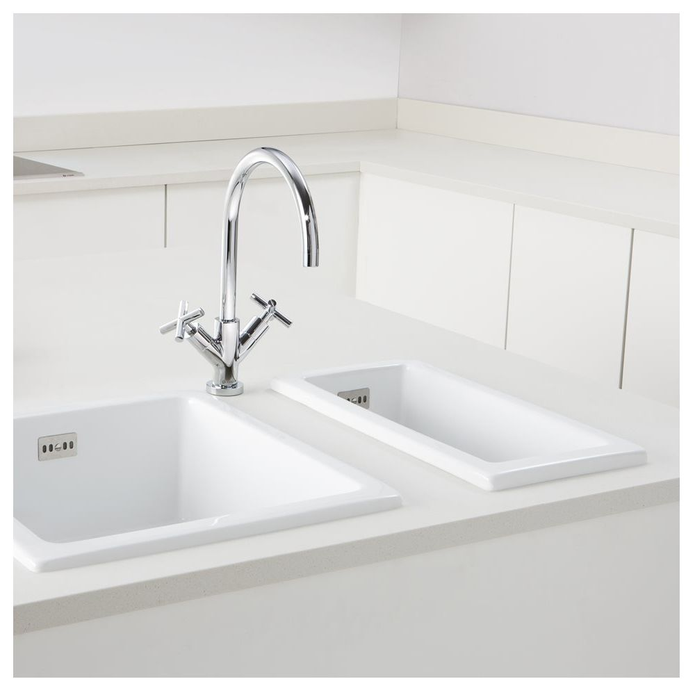 White Kitchen Taps: Caple HAMPSHIRE White Kitchen Sink