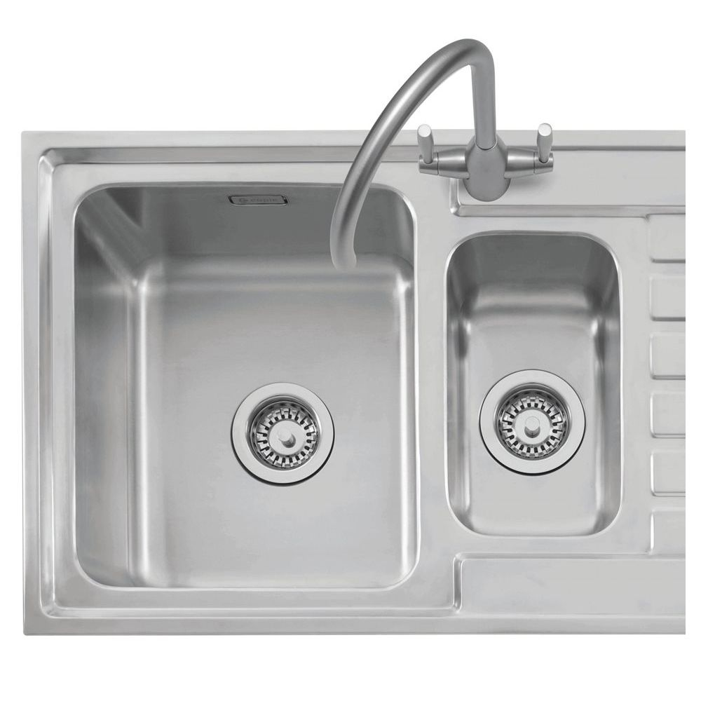 inset stainless steel kitchen sinks caple vanga 150 stainless sink sinks taps 7530
