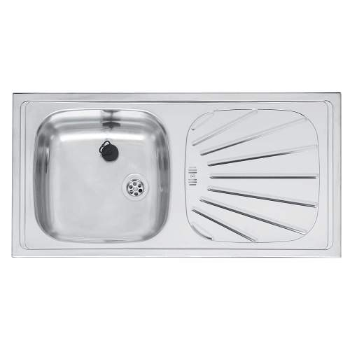 ALPHA 10 Single Bowl Kitchen Sink and Drainer - RP101S