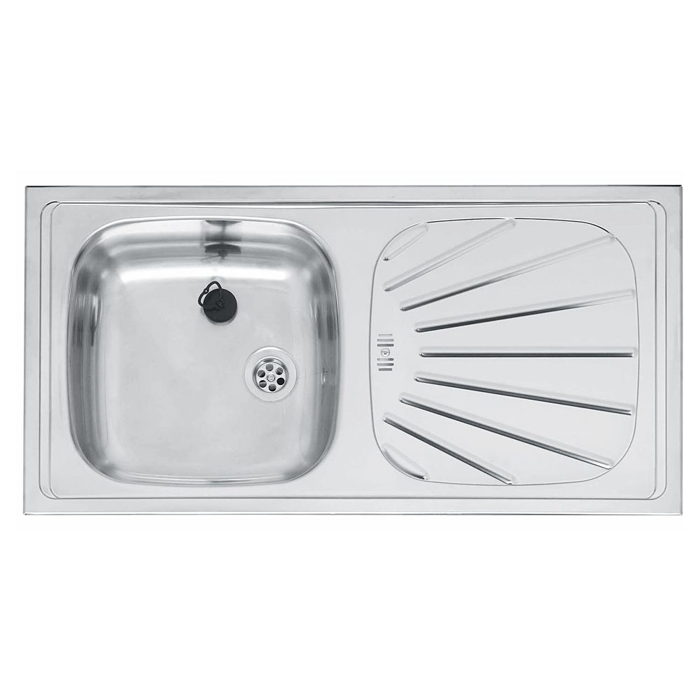 alpha 10 single bowl kitchen sink and drainer rp101s - Small Kitchen Sink With Drainer