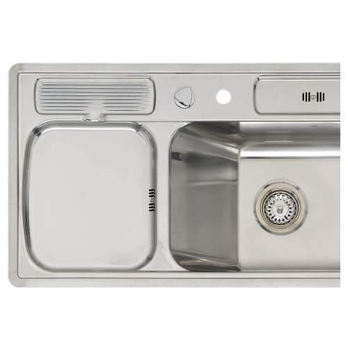 AMBASSADOR R Single Bowl Kitchen Sink with Wet Area