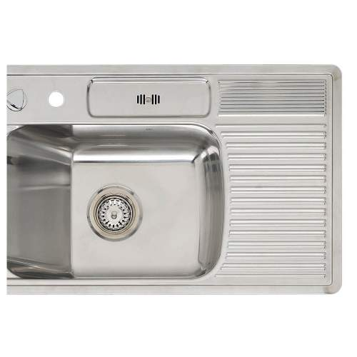 AMBASSADOR R Single Bowl Kitchen Sink with Wet Area