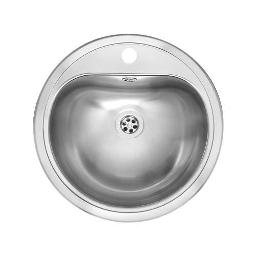 ATLANTIS Circular Inset Kitchen Sink with Tap ledge