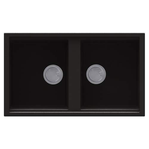 Best 450 2.0 Bowl Inset Granite Kitchen Sink - Black