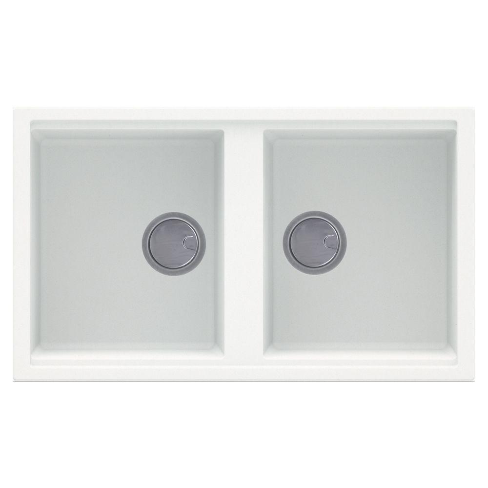white inset kitchen sink