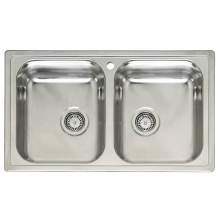 DIPLOMAT 20 Double Bowl Kitchen Sink - RL218S