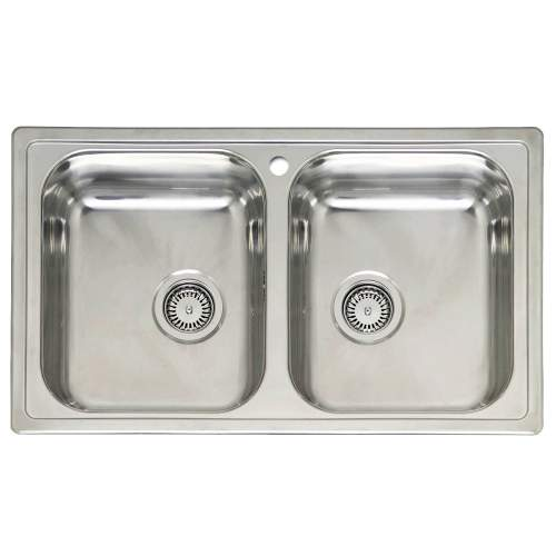 218 Best Kitchen Sink Realism Images On Pinterest: DIPLOMAT 20 Double Bowl Stainless Steel Sink