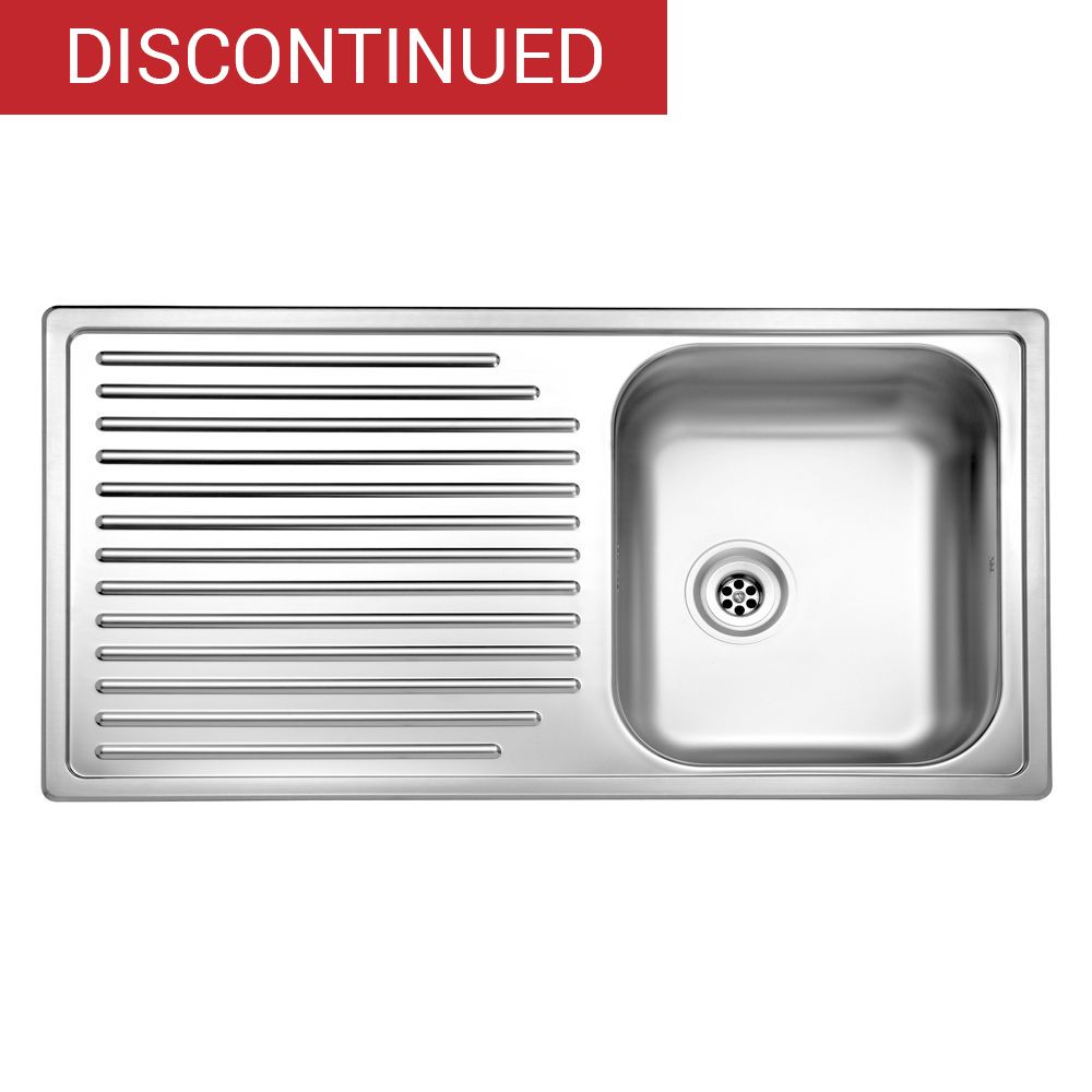 Duchess single bowl kitchen sink and drainer rp160s