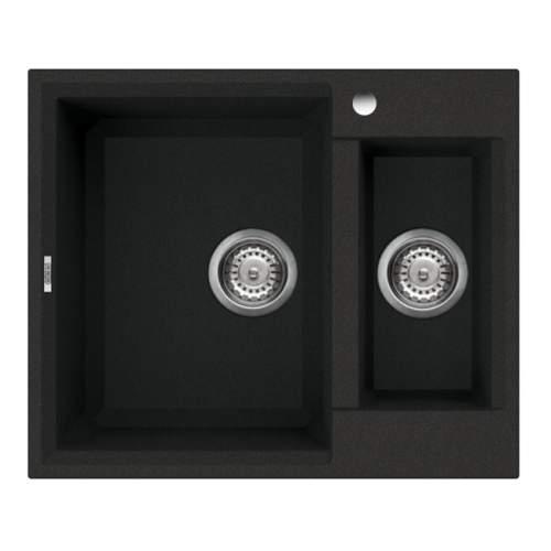 Easy 150 1.5 Bowl Inset Granite Kitchen Sink - Black