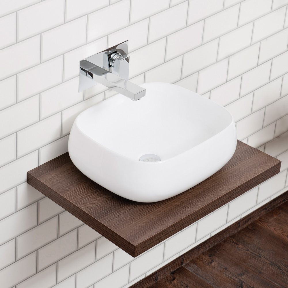 bathroom sink shelves floating aquabro floating wood shelf sinks taps 16561