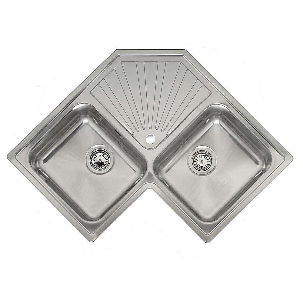 Reginox Montreal Double Bowl Corner Sink Sinks Taps Com