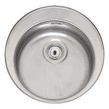 MOSCOW Round Bowl Inset Kitchen Sink with Tap Ledge