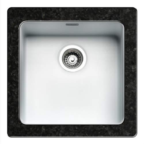 Regi-Color OHIO 40x40 Single Bowl Kitchen Sink - Arctic White