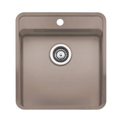 Regi-Color OHIO 40x40 with Tapwing Single Bowl Kitchen Sink - Sahara Sand