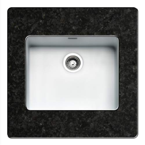 Regi-Color OHIO 50x40 Single Bowl Kitchen Sink - Arctic White