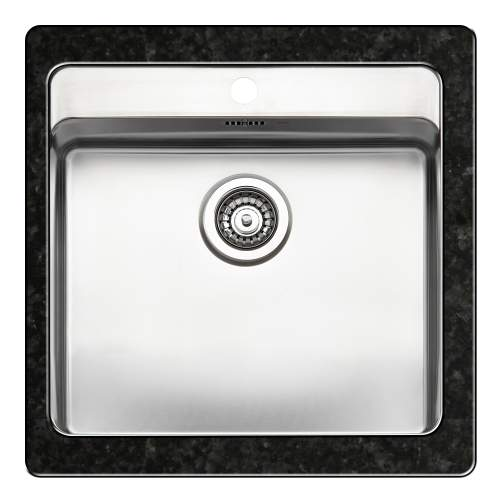 OHIO 50x40 Large Bowl Kitchen Sink with Tap Ledge