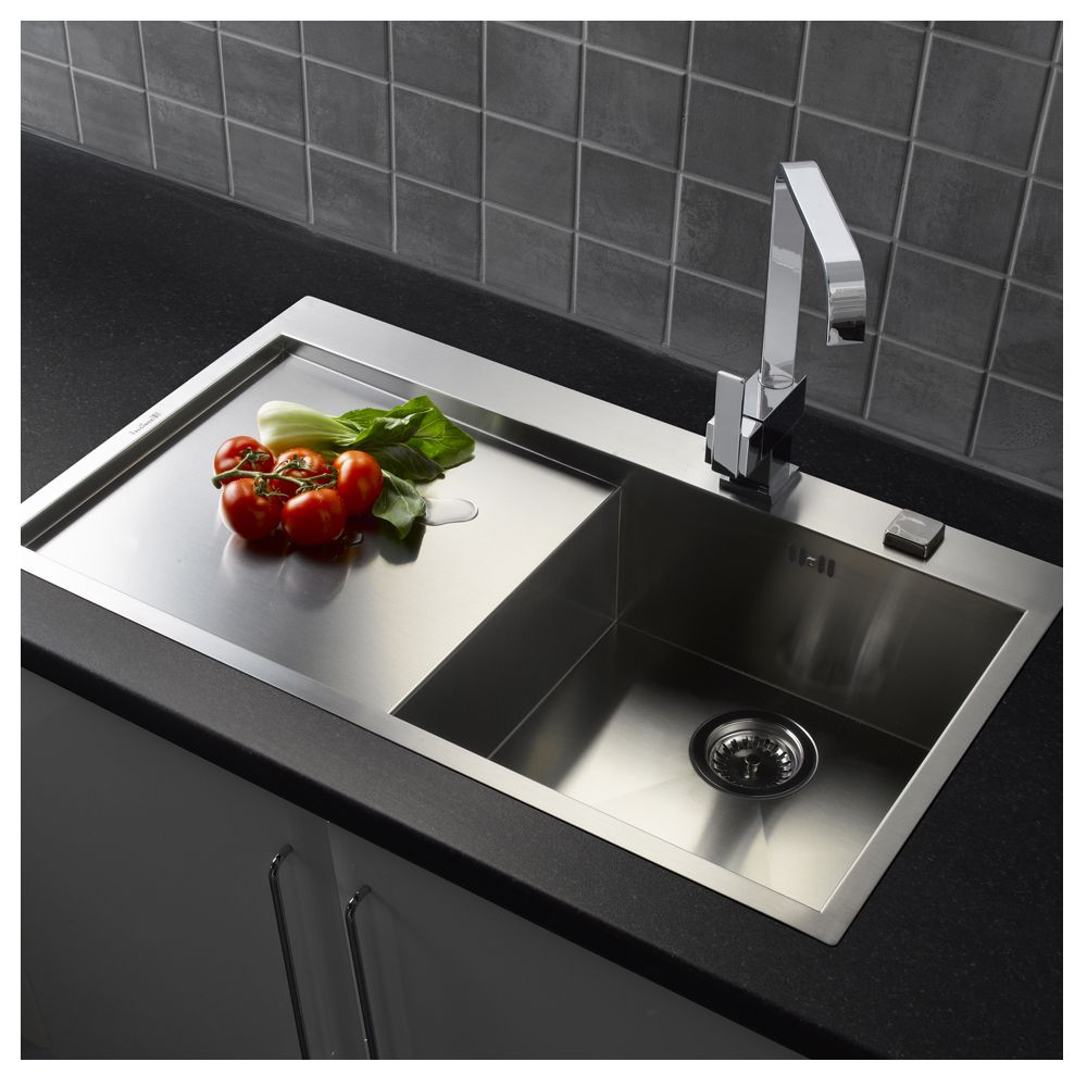 single bowl kitchen sink with drainer reginox ontario l10 single bowl amp drainer sinks taps 9306
