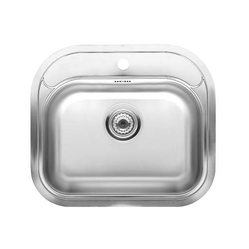 ORLANDO L Single Bowl Kitchen Sink with Tap Ledge - RF317S