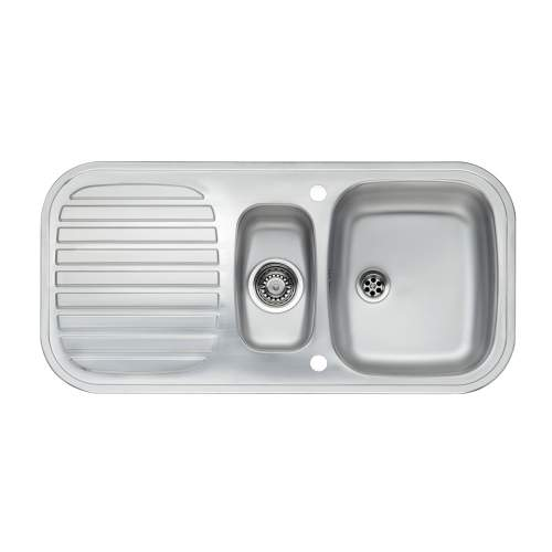 PRINCE S 1.5 Bowl Kitchen Sink and Drainer - RP103S