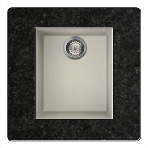 Quadra 100 Undermount Compact Granite Kitchen Sink - Cream