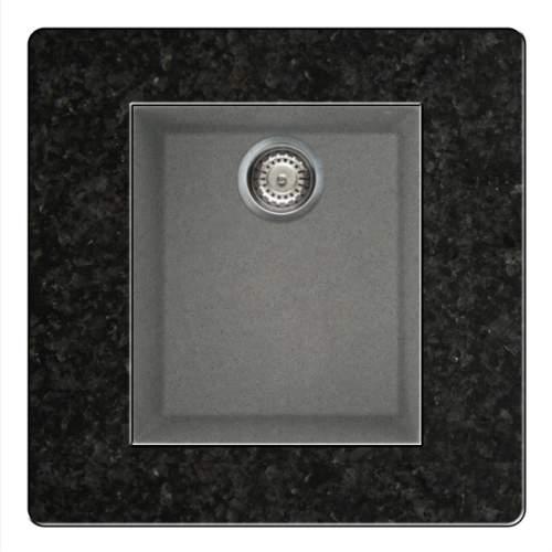 Quadra 100 Undermount Compact Granite Kitchen Sink - Grey