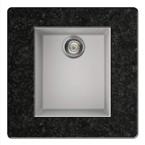 Quadra 100 Undermount Compact Granite Kitchen Sink - White