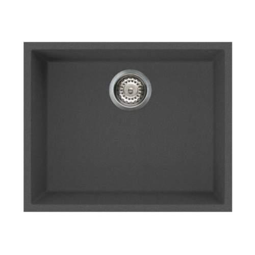 Quadra 105 Undermount 1.0 Bowl Granite Kitchen Sink - Black
