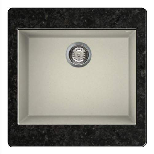 Quadra 105 Undermount 1.0 Bowl Granite Kitchen Sink - Cream
