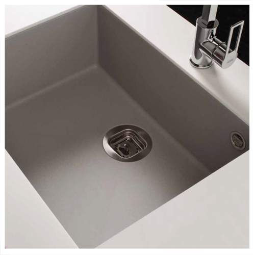 Quadra 105 Undermount 1.0 Bowl Granite Kitchen Sink - Grey