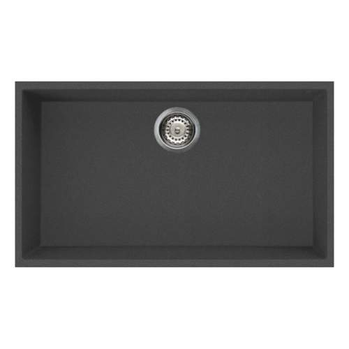 Quadra 130 Undermount Large Bowl Granite Kitchen Sink - Black