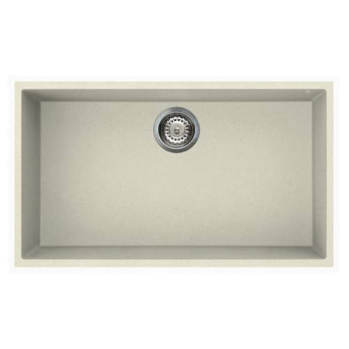Quadra 130 Undermount Large Bowl Granite Kitchen Sink - Cream