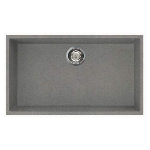 Quadra 130 Undermount Large Bowl Granite Kitchen Sink - Grey