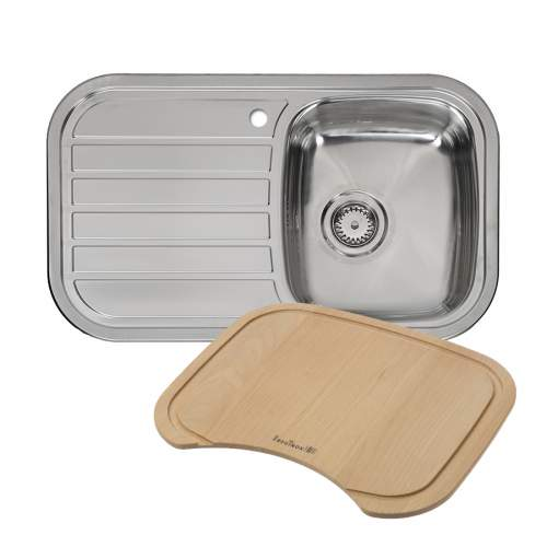 REGENT 10 LUX Single Bowl Kitchen Sink + FREE CHOPPING BOARD